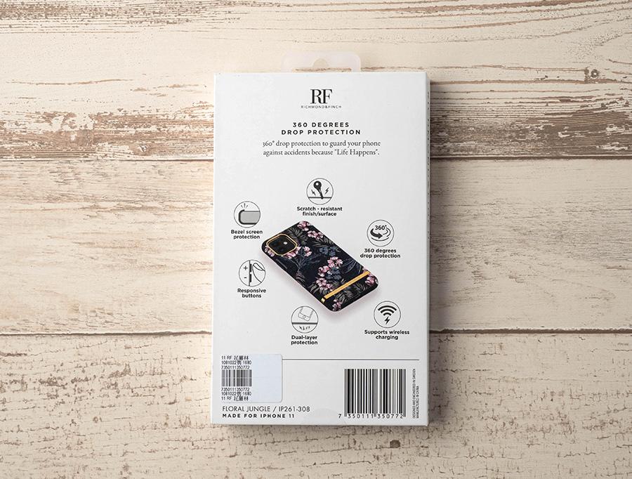 花叢林 - 金線框  Richmond & Finch(RF) 瑞典設計品牌手機殼 外包裝