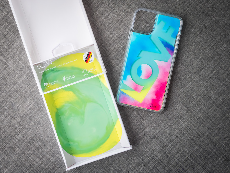 LAUT・流沙系列 鋼化玻璃 iPhone手機保護殼 LOVE 夜光