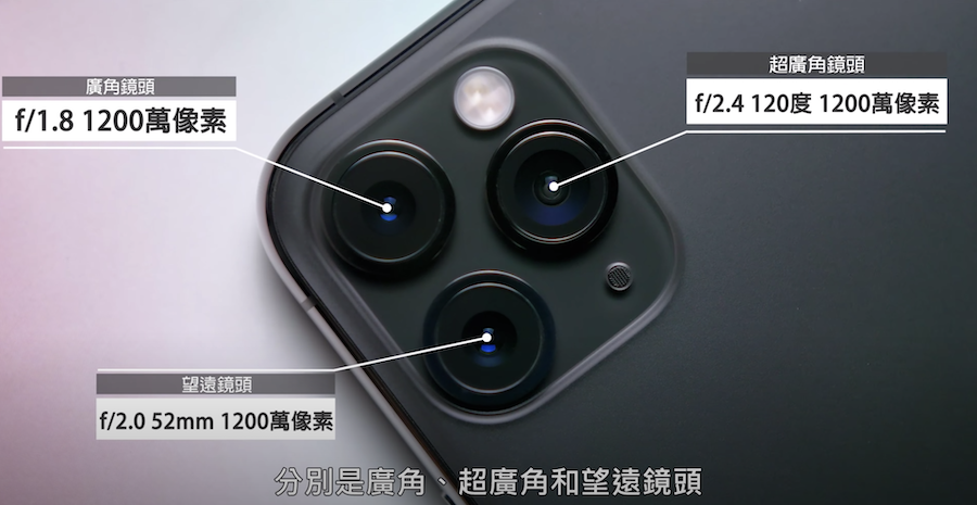 iPhone 11 Pro Max 手機鏡頭介紹