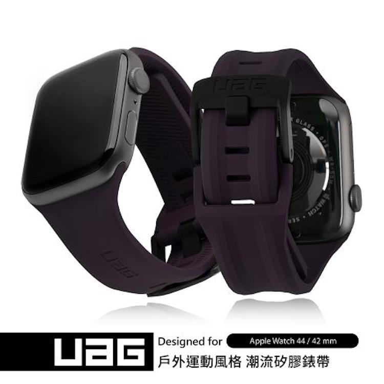 UAG Apple Watch 42/44mm 潮流矽膠錶帶 紫色