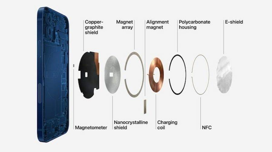 iPhone12機型 內部磁振模組構造圖 解析