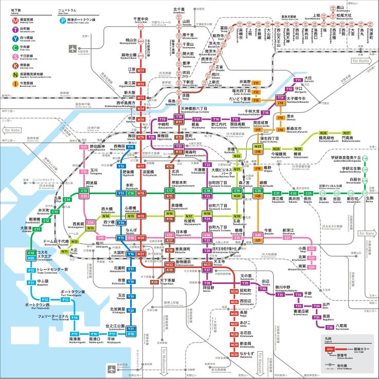 大阪市地鐵圖