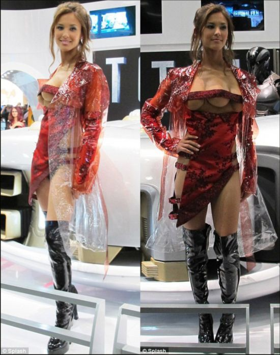 长3个乳房的美女模特(图)