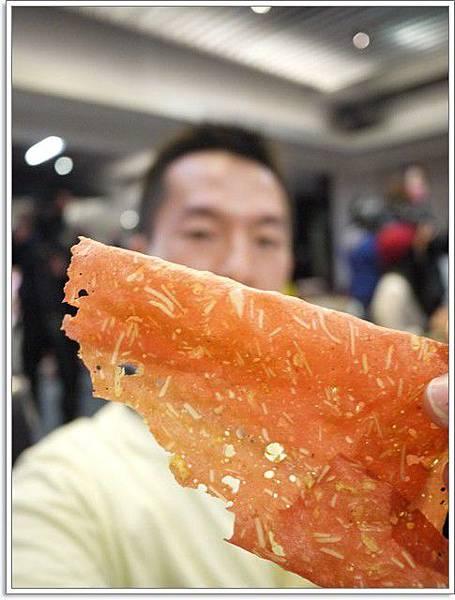 13.薄如紙的櫻花蝦香脆肉乾