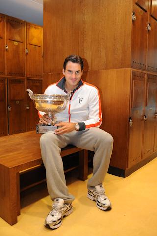 Roger and his Roland Garros Slam Championship