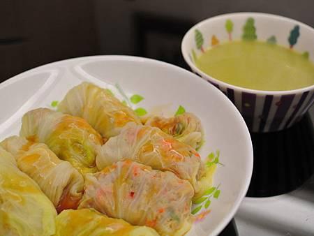 菜捲與綠花椰湯DSC_3179.jpg