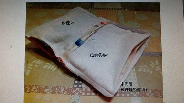 4.中間層~拉鍊裡袋布(背)