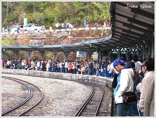 阿里山夜未眠-18阿里山祝山車站等待火車人潮.jpg
