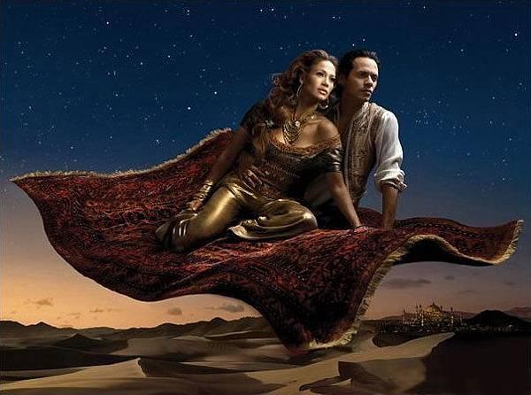 Jennifer Lopez as Princess Jasmine & Marc Anthony as Aladdin