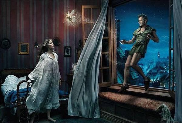 Gisele Bundchen as Wendy & Tina Fey as Tinker Bell & Mikhail Baryshnikov as Peter Pan