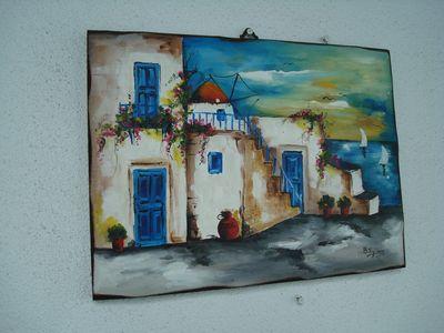 聖托里尼一景23_牆上的畫.JPG