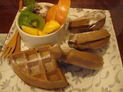明森宇治餐3_京都和風鬆餅_紅茶.JPG
