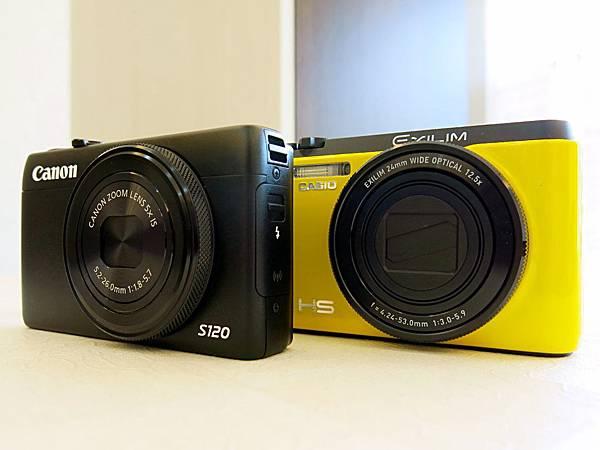 圖1 Canon S120與Casio ZR1200