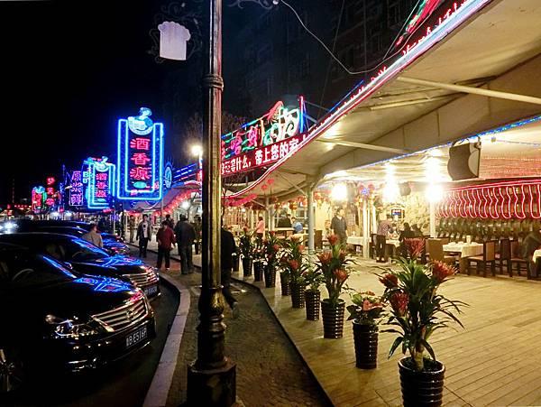 圖4 啤酒街夜市風貌