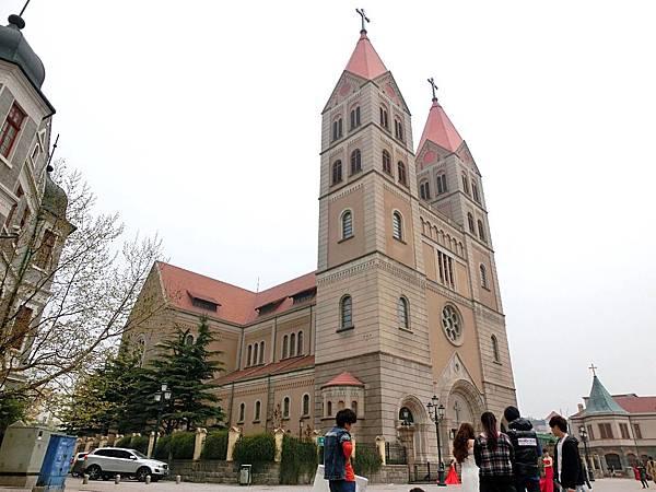 圖5 青島市的天主大教堂正是婆婆從小做禮拜的地方