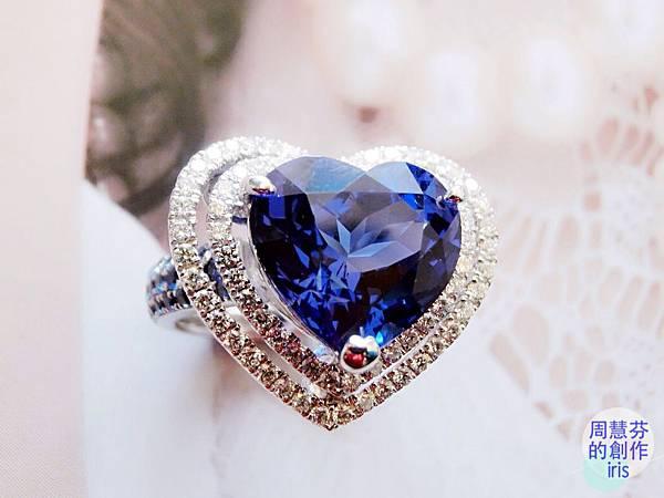 圖1 我設計的「丹泉VS藍寶」鑽戒