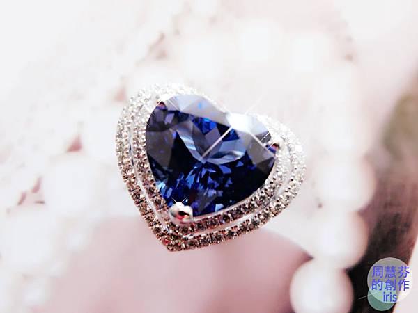 圖5 我設計的「丹泉VS藍寶」鑽戒