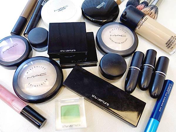 圖3 我的MAC與植村秀化妝品、化妝刷