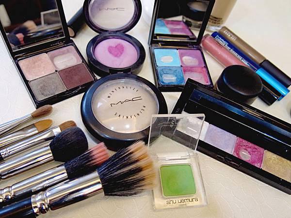 圖4 我的MAC與植村秀化妝品、化妝刷