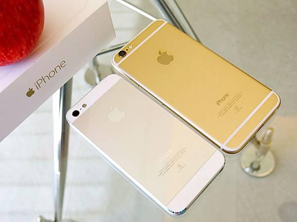 圖2 4吋的iPhone 5和4.7吋的iPhone 6