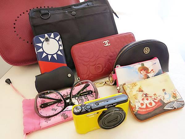 圖1 我的包中包和隨身物品