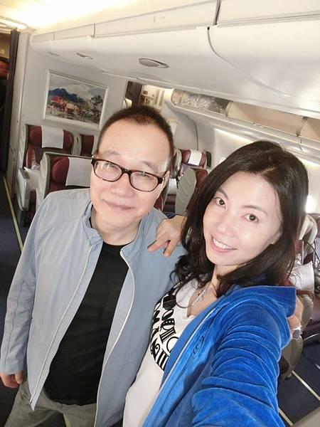 圖2 11月1日我和咪呢搭華航早班機去香港
