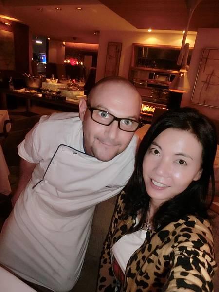圖28 我和Angelini的義大利主廚