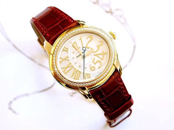 圖1 愛彼AP千禧系列玫瑰金鑽錶