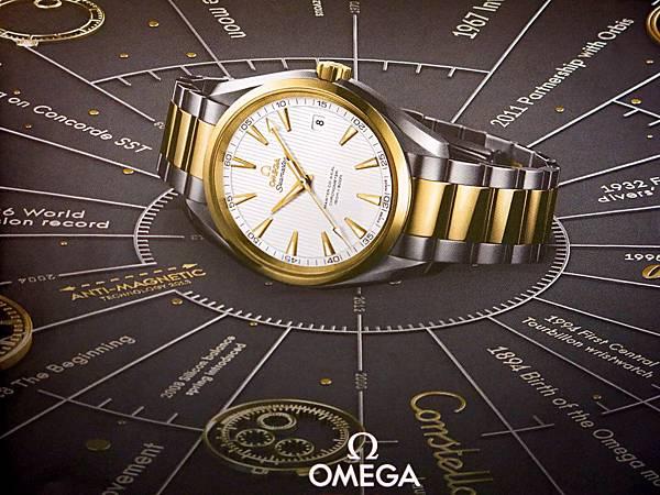 圖9 歐米茄Omega腕錶(翻拍自台北101期刊)