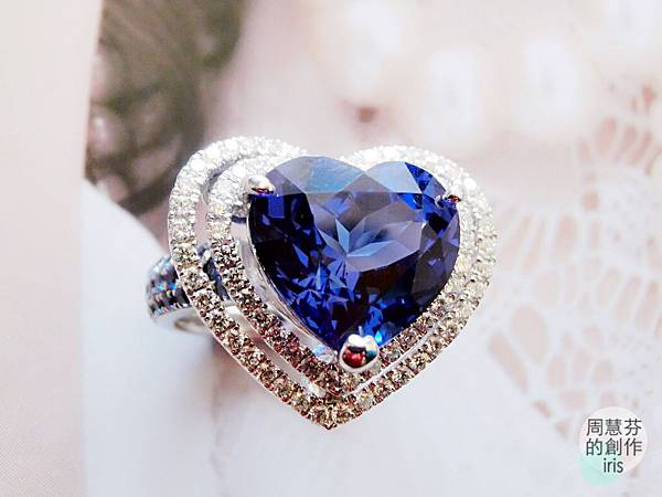 圖4 我設計的丹泉VS藍寶鑽戒