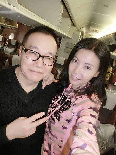 圖1 1月15日我和咪呢搭乘華信航空直飛南京