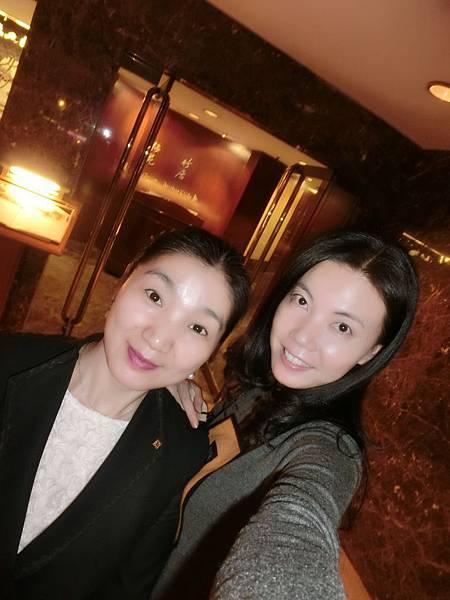 圖23 我和梅苑的王萍經理