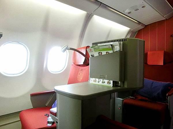 圖15 香港航空商務艙座椅