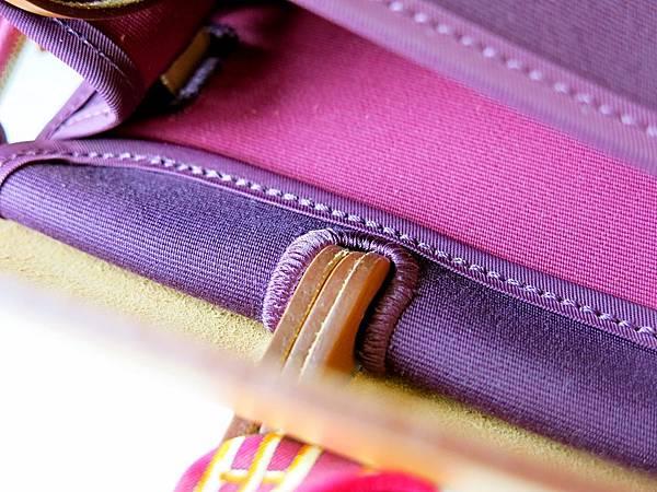 圖15 精密紮實的車縫線,是愛馬仕的傳統工藝&看家本領。