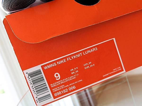 圖13 Lunar 3的鞋盒及尺寸說明