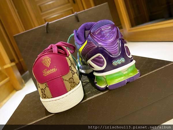 圖14 GUCCI休閒鞋高2.5cm,Asics運動鞋高3cm。.jpg