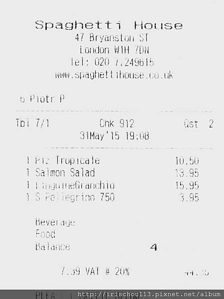 圖15 Spaghetti House消費£44.35(他們的帳單非常模糊).jpg