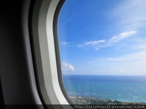 圖5 11月1日抵達檀香山機場,飛機降落前的畫面。.jpg