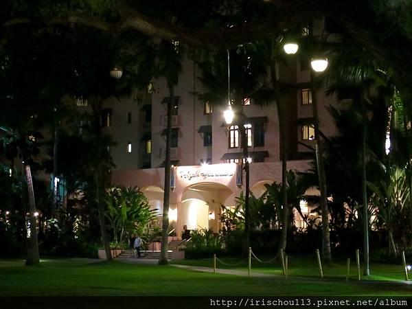 50) 夏威夷皇家酒店夜景.jpg