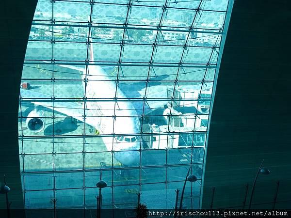 P19)從VIP室可見窗外的A380客機.jpg
