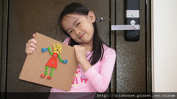 幾何釘板創作-小女生