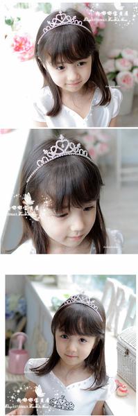 韓國可愛精致閃亮水鑽兒童皇冠發箍.jpg