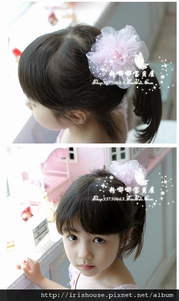 韓國進口點點紗紗花球平夾 清新柔和 -2.jpg