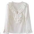 韓版粉嫩色雪紡荷葉裝飾心型吊飾長袖上衣-210.jpg