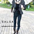 SALSA 冬款時尚短靴 低筒高跟雨鞋 雨靴 水鞋 單:棉-m368.jpg