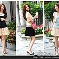 花朵蕾絲網紗短裙-1.tiff