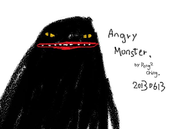 愛生氣的怪物angry monster