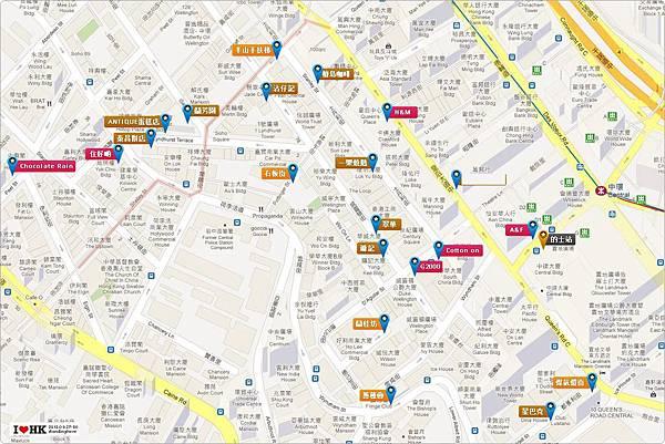 香港中環地圖