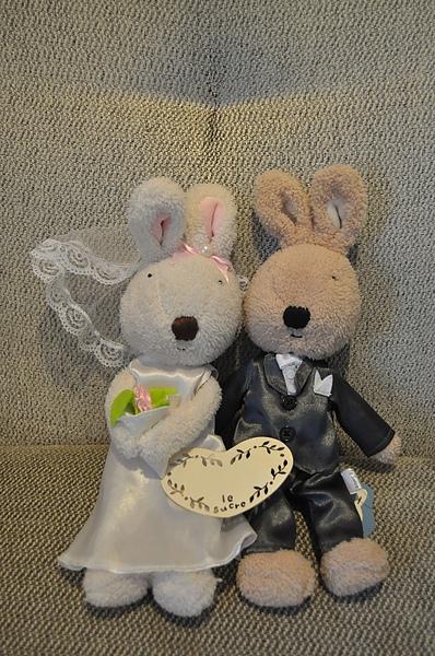 兔兔新娘和兔兔新郎在一起~