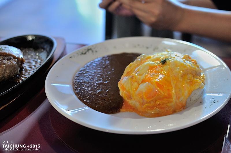 台中-異鄉人咖哩日本食堂-漢堡排-牛肉-豬肉滑蛋咖哩 (2)